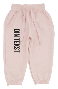 baby joggingbukser pink med sort