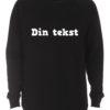 sort crewneck sweatshirt med din tekst