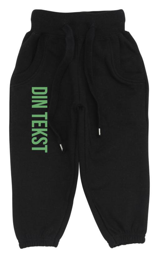 baby joggingbukser sort med groen