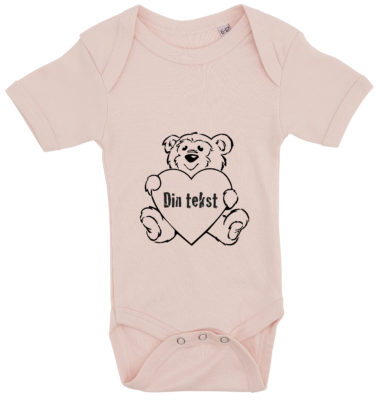 baby bodystocking bamsetryk din tekst lyseroed