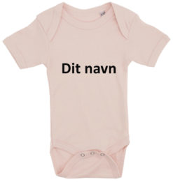 baby bodystocking dit navn calibri lyseroed