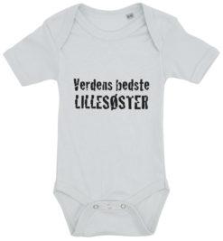 baby bodystocking verdens bedste lillesoester blaa