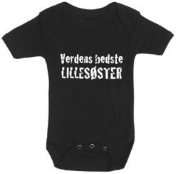 baby bodystocking verdens bedste lillesoester sort