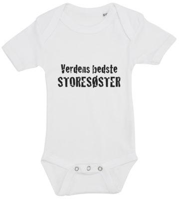 baby bodystocking verdens bedste storesoester hvid