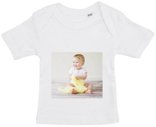 baby t-shirt dit foto firkant hvid