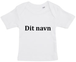 baby t-shirt dit navn cambria hvid
