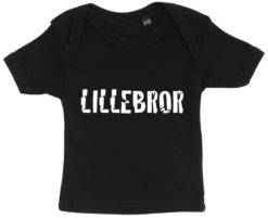 baby t-shirt lillebror sort