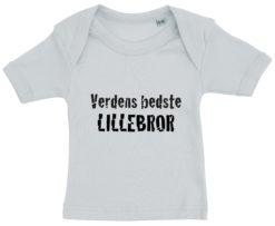 baby t-shirt verdens bedste lillebror blaa