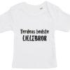 baby t-shirt verdens bedste lillebror hvid