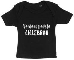 baby t-shirt verdens bedste lillebror sort