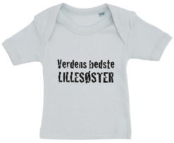 baby t-shirt verdens bedste lillesoester blaa