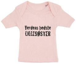 baby t-shirt verdens bedste lillesoester lyseroed
