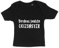 baby t-shirt verdens bedste lillesoester sort
