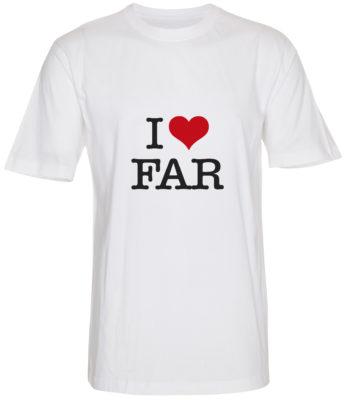 boerne t-shirt i love far hvid