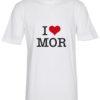 boerne t-shirt i love mor hvid