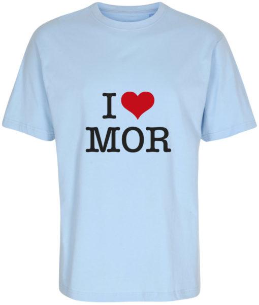 boerne t-shirt i love mor lyseblaa