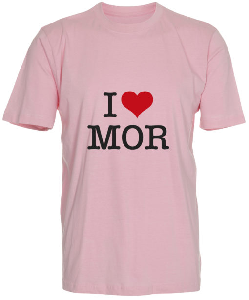 boerne t-shirt i love mor lyseroed