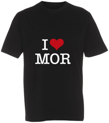 boerne t-shirt i love mor sort