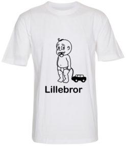 boerne t-shirt lillebror hvid