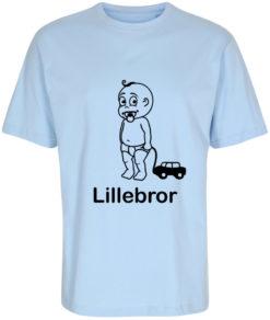 boerne t-shirt lillebror lyseblaa