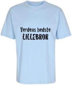 boerne t-shirt verdens bedste lillebror lyseblaa
