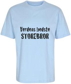 boerne t-shirt verdens bedste storebror lyseblaa