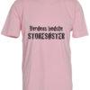 boerne t-shirt verdens bedste storesoester lyseroed
