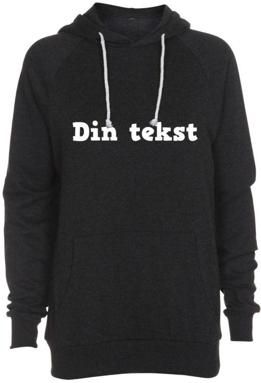 sweatshirt med din tekst antracit