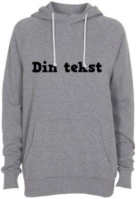 sweatshirt med din tekst graa