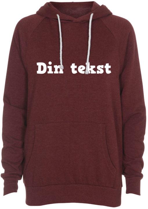 sweatshirt med din tekst roed