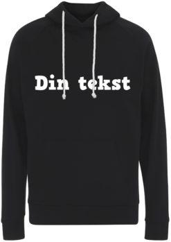 sweatshirt med din tekst sort