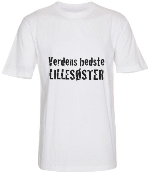 boerne t-shirt verdens bedste lillesoester hvid