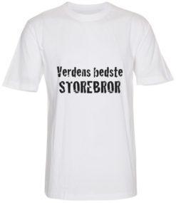 boerne t-shirt verdens bedste storebror hvid