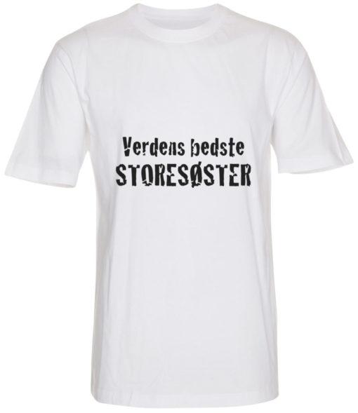 boerne t-shirt verdens bedste storesoester hvid