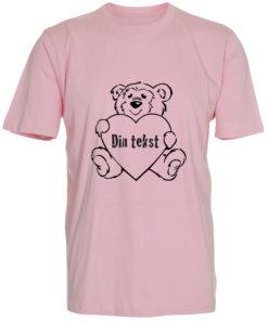 boerne t-shirt din tekst i bamse lyseroed