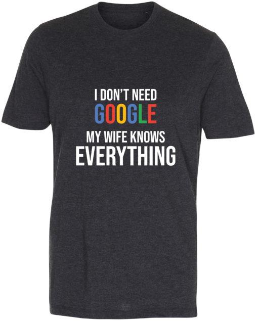 herre t-shirt i dont need google antracit