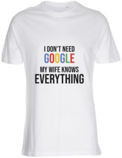 herre t-shirt i dont need google hvid
