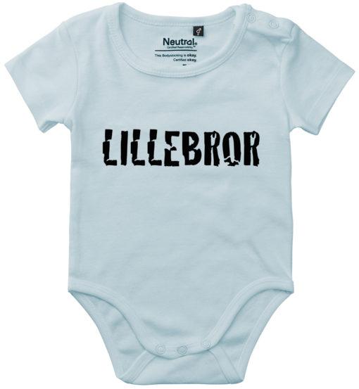 oekologisk baby bodystocking lillebror blaa