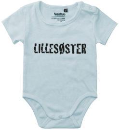 oekologisk baby bodystocking lillesoester blaa