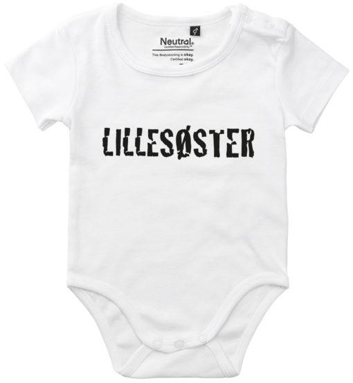 oekologisk baby bodystocking lillesoester hvid