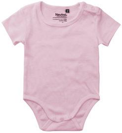 oekologisk baby bodystocking uden tryk pink