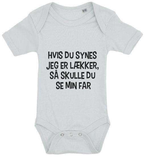 baby bodystocking hvis du synes jeg er laekker far blaa