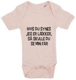 baby bodystocking hvis du synes jeg er laekker far lyseroed