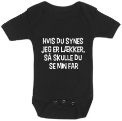 baby bodystocking hvis du synes jeg er laekker far sort