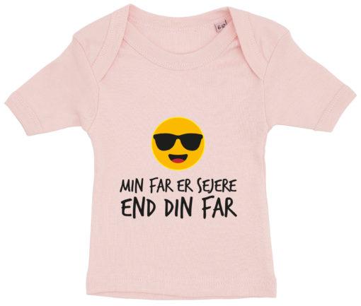 baby t-shirt min far er sejere end din far lyseroed