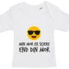 baby t-shirt min mor er sejere end din mor hvid