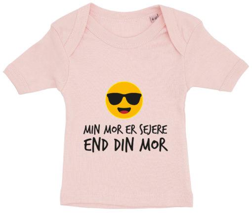baby t-shirt min mor er sejere end din mor lyseroed
