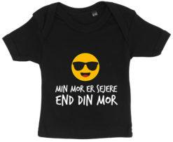 baby t-shirt min mor er sejere end din mor sort