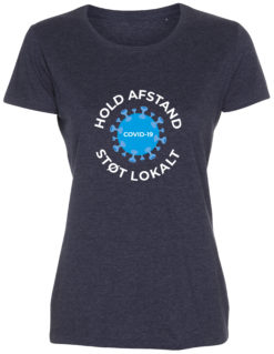 corona stoette t-shirt til kvinder blaa