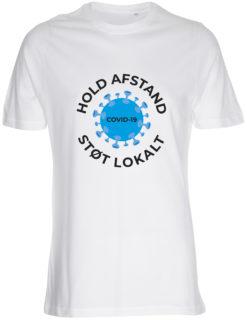 corona stoette t-shirt til maend hvid